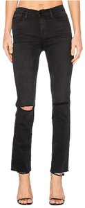FRAME Straight Leg Jeans-Distressed
