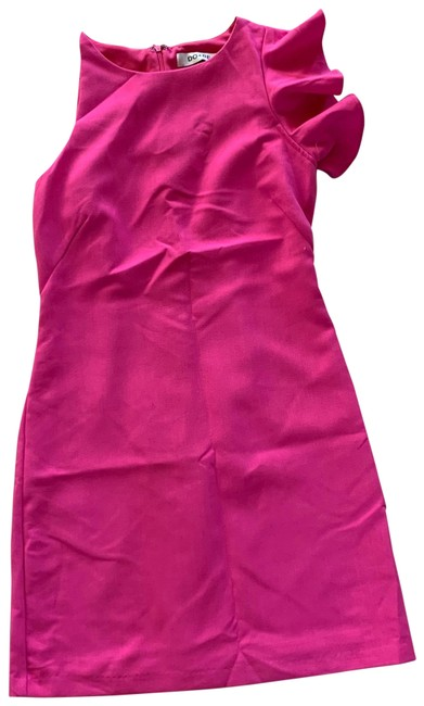 Item - Hot Pink Small Ruffle Sleeve Mid-length Night Out Dress Size 4 (S)