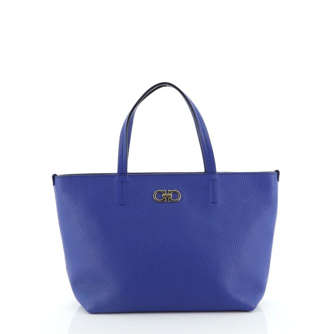 Item - Small Blue Leather Tote