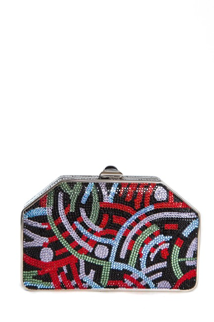 Item - Black & Multi Multicolor Clutch