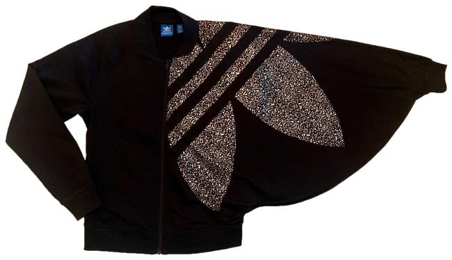 Item - Black and Gold Open Sleeve Jacket Activewear Size 0 (XS)
