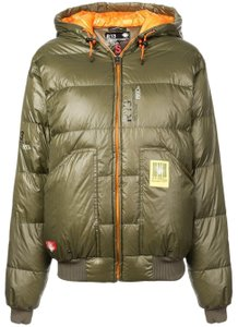 R13 Down Quilted Hooded Puffer Jacket Coat