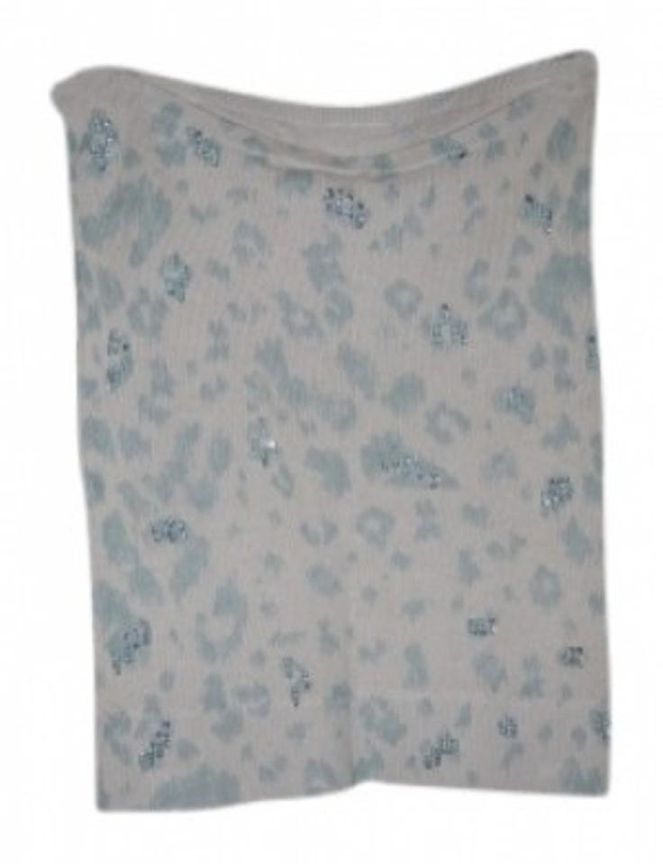 eafe18a8de1 Rebecca Taylor Light Blue Cream Cashmere Silk Tube Tank Top Cami ...