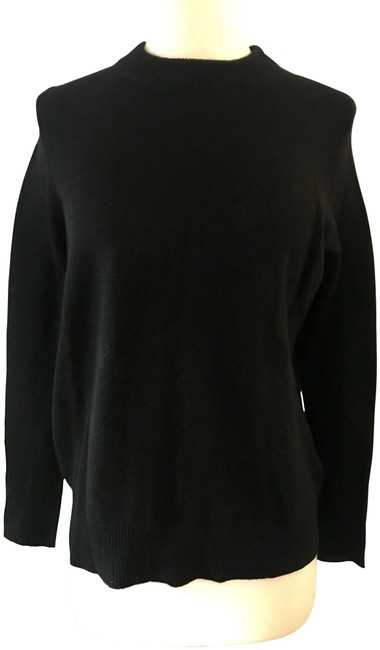 Item - Collection Cashmere Back-zip Tunic Size: Xxs Black Sweater