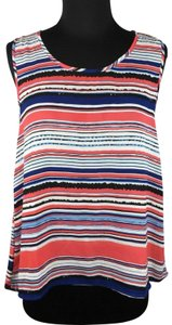 Elodie Striped Sleeveless Polyester Casual Top Multicolor