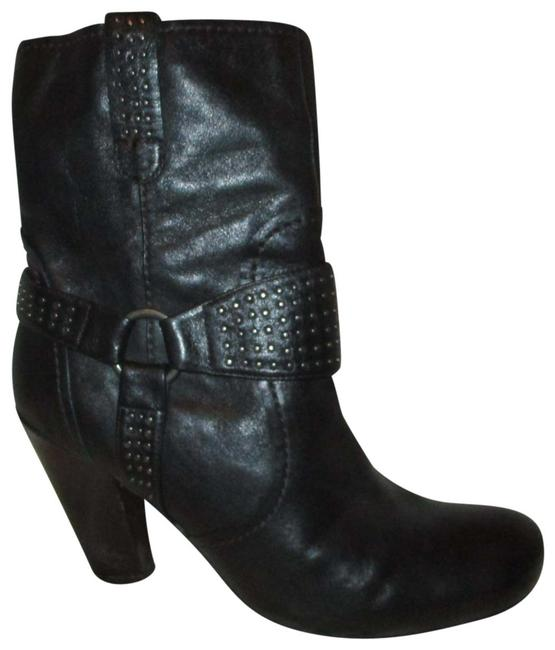 Item - Black Studded Harness Ankle Boots/Booties Size EU 39 (Approx. US 9) Regular (M, B)