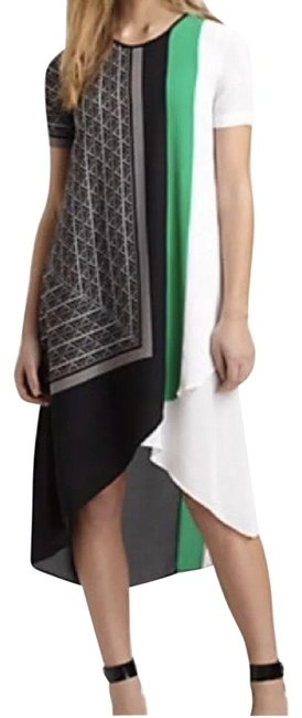 Item - Black - Green - White Adeleine Mid-length Night Out Dress Size 0 (XS)