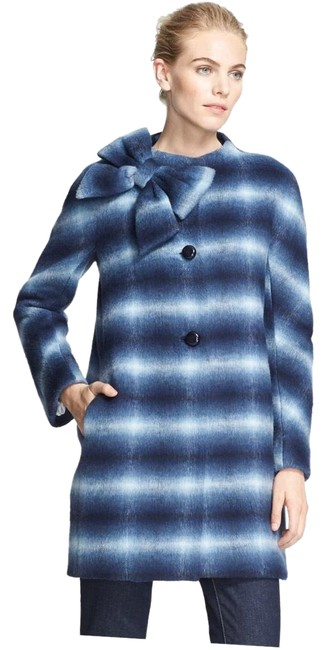 Item - Blue Dorothy Bow Check Coat Size 6 (S)