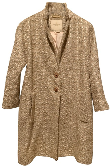 Item - Rose Gold Metallic Tweed Dress Coat Jacket Size 4 (S)