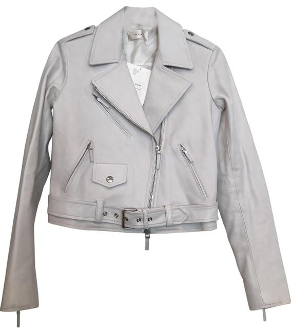 Item - Off-white Perlin Leather Jacket Size 0 (XS)