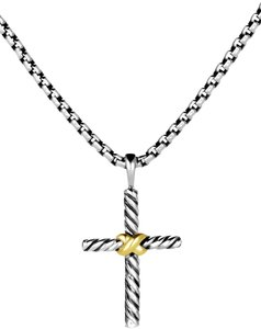 David Yurman Sterling silver David Yurman Petite X Cross pendant necklace