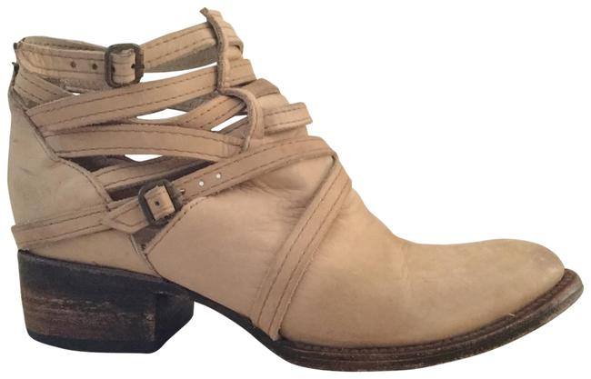 """Item - Taupe Leather """"strappy"""" Ankle Boots/Booties Size US 7 Regular (M, B)"""