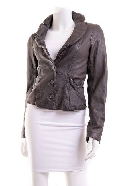 Item - Brown Leather Jacket Size 8 (M)