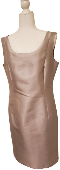 Item - Silver/Grey Lafayette 148 New York Mid-length Cocktail Dress Size 10 (M)