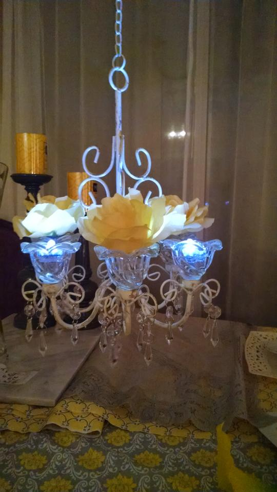 Ivory antiqued metal and clear crystals set of 4 six arm mini candle ivory antiqued metal and clear crystals set of 4 six arm mini candle chandelier ceremony decoration aloadofball Choice Image