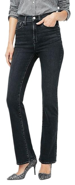 Item - Clean Washed Black Light Wash Curvy Demi Boot Cut Jeans Size 27 (4, S)