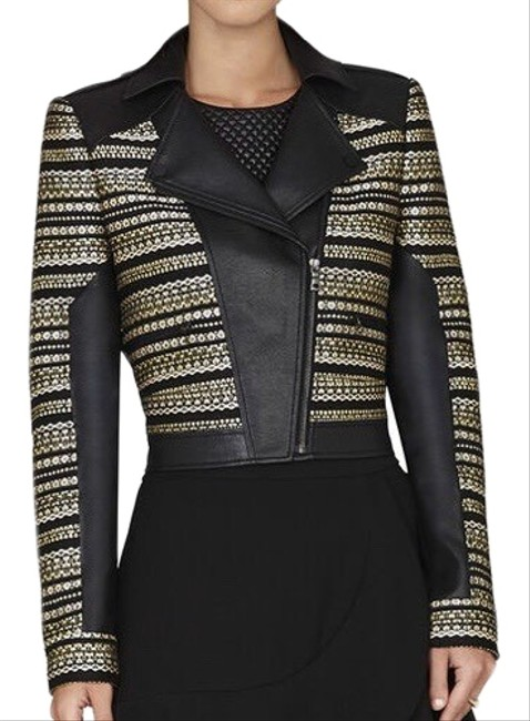 Item - Black and Gold Leonardo Jacket Size 00 (XXS)