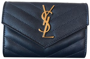 Saint Laurent Saint Laurent Monogramme Small Grain de Poudre Envelope Wallet