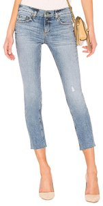 Rag & Bone Ankle Distressed Straight Leg Jeans-Distressed