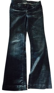 Citizens of Humanity Faye Wide Size 27 Flare Leg Jeans-Dark Rinse
