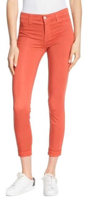 Item - Coral Anja Roseate Mid Rise Cuffed Cropped Pants Skinny Jeans Size 4 (S, 27)