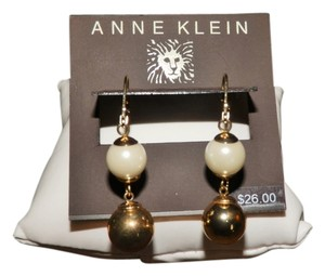 Anne Klein Anne Klein Faux Pearl and Gold Tone Drop earrings