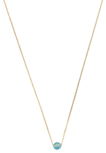 Item - Gold New December Light Turquoise Birthstone Necklace
