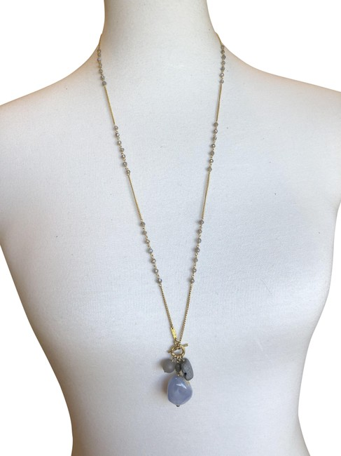 Item - Grey/Gold New Mix Toggle Necklace