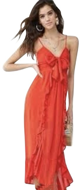 Item - Red Summer Front Long Casual Maxi Dress Size 8 (M)