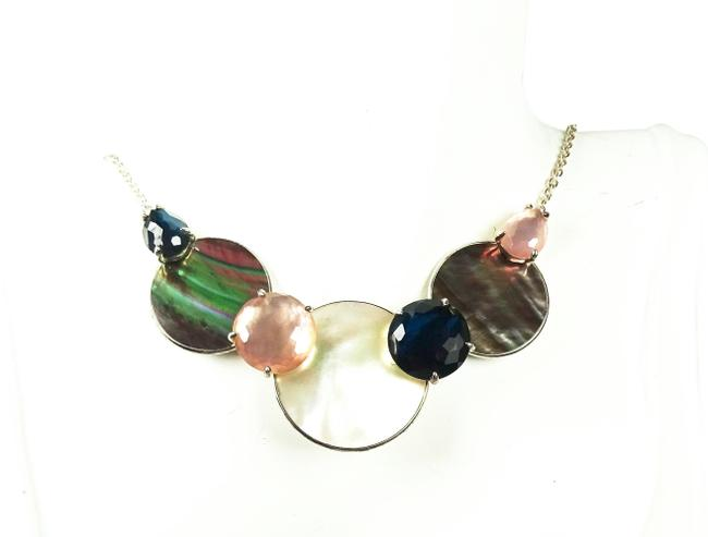 Item - Multi-color Candy Sterling Silver Polished Rock Necklace