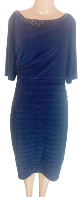 Adrianna Papell Blue Long Night Out Dress Size 14 (L) Adrianna Papell Blue Long Night Out Dress Size 14 (L) Image 1