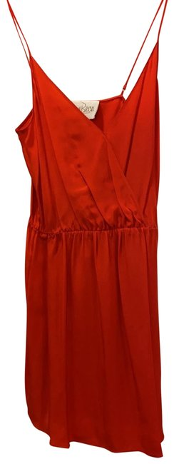 Item - Red Silk Short Cocktail Dress Size 4 (S)