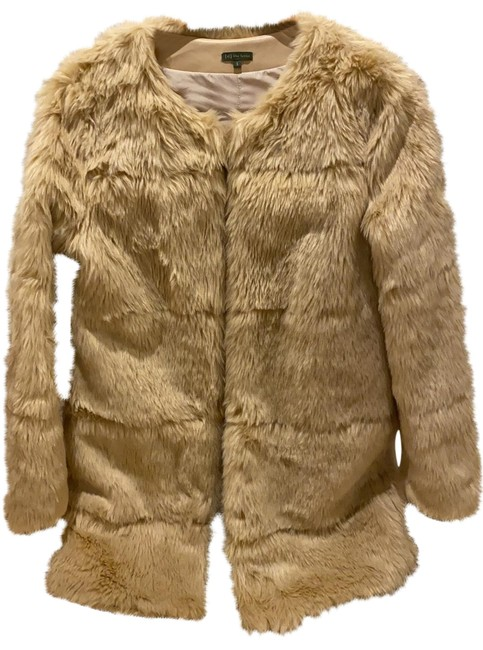 Item - Tan with Yellow Undertones Blonde Faux Mid Length Coat Size 4 (S)