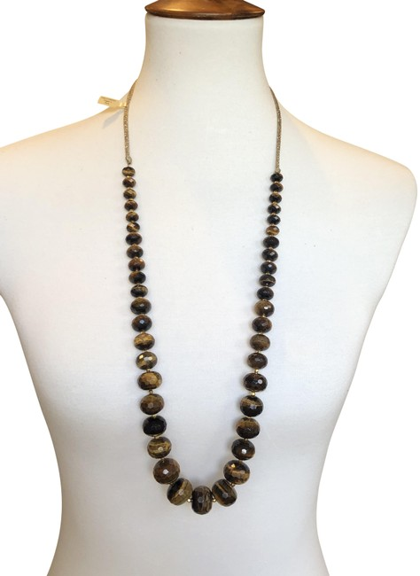 Item - Tiger's Eye New Faceted Adjustable Long Necklace