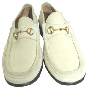 Gucci Suede Leather Loafer 35 BEIGE Flats