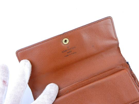 Louis Vuitton Continental Monogram Canvas Leather Clutch Trifold Wallet Image 5