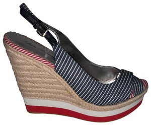 Lulu Townsend Red/White/Blue Wedges