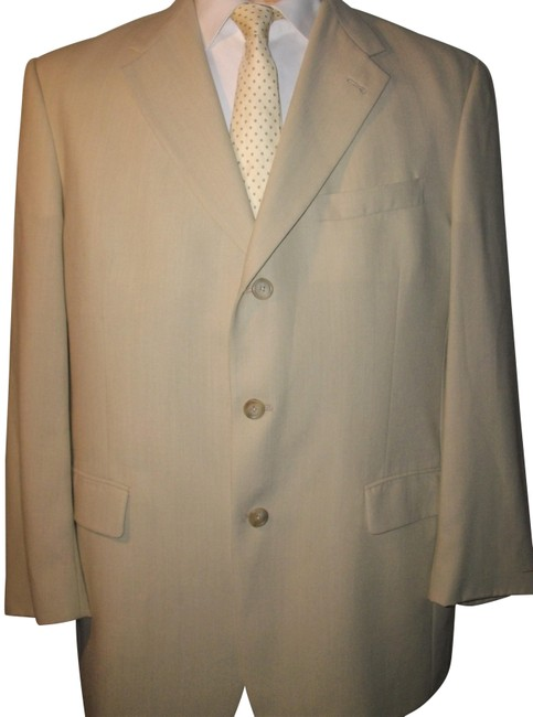 Item - Tan Vintage Men's Wool 44 Blazer Size 16 (XL, Plus 0x)