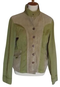 Think Tank Suede Olive & Tan Leather Jacket