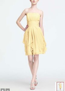 David's Bridal CANARY YELLOW David's Bridal Yellow F14169 Dress Dress
