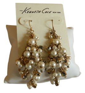 Kenneth Cole Kenneth Cole New York Pearl Cluster Drop Earrings
