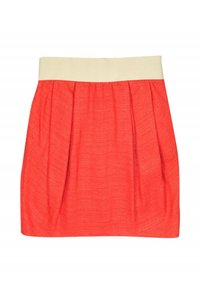 Adam Lippes Linen Blend Skirt orange