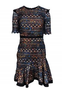 Saloni Multicolored Lace Dress