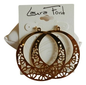 Laura Ford Laura Ford Gold Tone Hoop Earrings