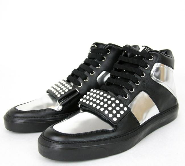 Item - Silver/Black Men's High-top Sneaker Limited Edition 376194 1064 Size 8 G / Us 8.5 Shoes