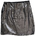 Romeo & Juliet Couture Silver and Black Sequin Medium Skirt Size 8 (M, 29, 30) Romeo & Juliet Couture Silver and Black Sequin Medium Skirt Size 8 (M, 29, 30) Image 1