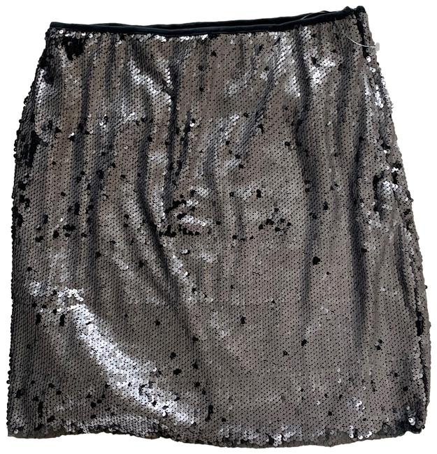 Item - Silver and Black Sequin Medium Skirt Size 8 (M, 29, 30)