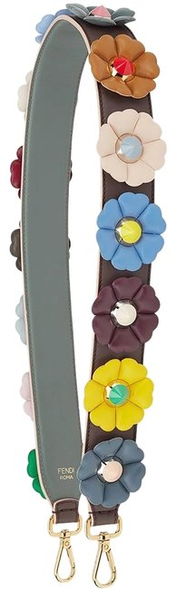 Item - Purple You Multi Color Flowers Calf Leather Grey Strap 8av077
