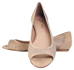 French Sole Gold Saturno Flats