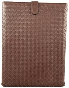 Bottega Veneta Brown Intrecciato Woven Leather Ipad Tablet Case